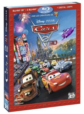 Pochette du DVD Cars 2 - Combo Blu-ray 3D active + Blu-ray 2D + copie digitale [Blu-ray]