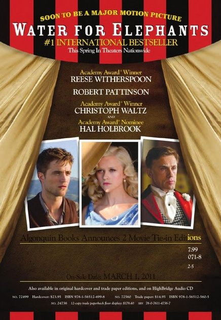 Affiche du film Water for Elephants