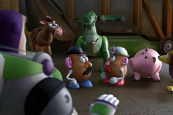 Toy story 3 monsieur et madame patate tirelire cochon et tirex zoom - Cochon de toy story ...