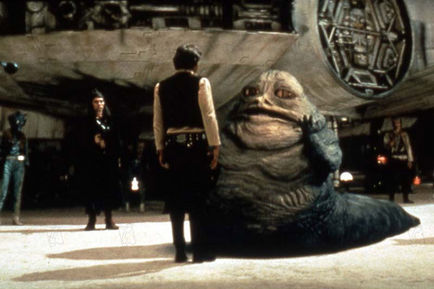 Star Wars Episode 4 Un Nouvel Espoir Harrison Ford Et Jabba Le Hutt Star Wars Episode 4 La Guerre Des Etoiles Zoom Cinema Fr