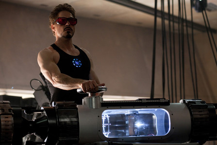 robert downey jr faisant des tests