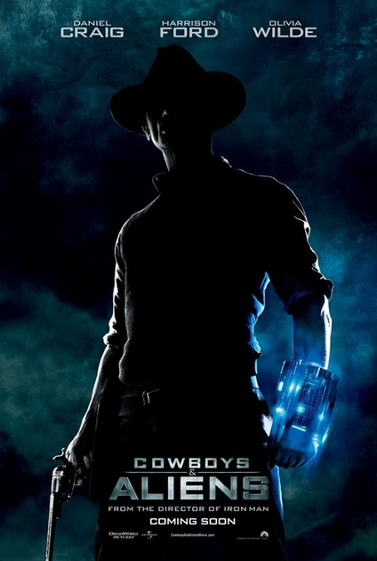 affiche teaser cowboys and aliens