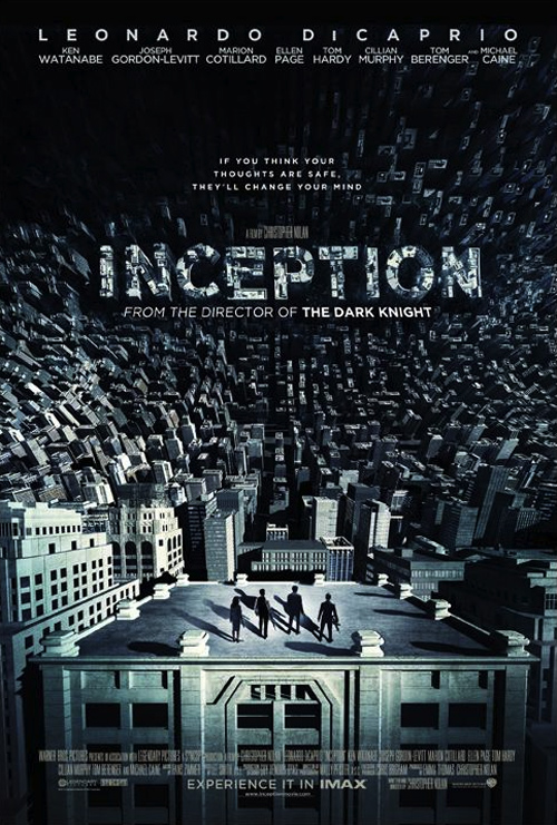 nouvelle affiche pour inception avant la sortie dvd zoom. Black Bedroom Furniture Sets. Home Design Ideas